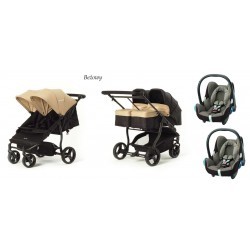 BABY MONSTERS Easy Twin 3.0 zestaw 3 w 1 Maxi Cosi Cabrio Fix