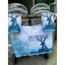 Torba do wózków bliźniaczych XXL Jelonek w śniegu