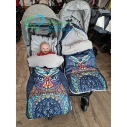 Śpiwór do wózka bliźniaczego z wzorem