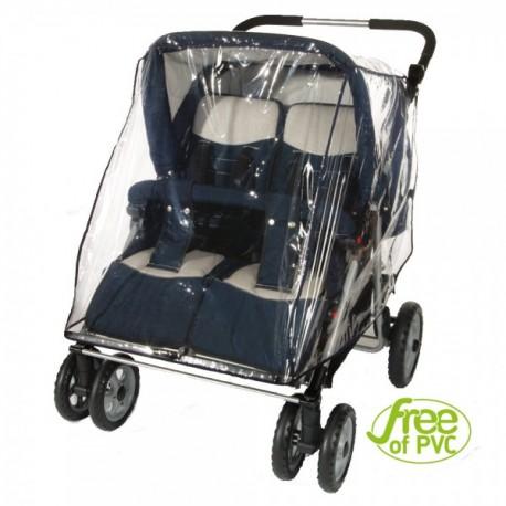 Folia przeciwdeszczowa na wózek bliźniaczy
