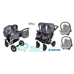 DORJAN Twin PRIM 3 w 1 Maxi Cosi Cabriofix