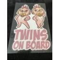 """Naklejki """"Twins on Board"""""""