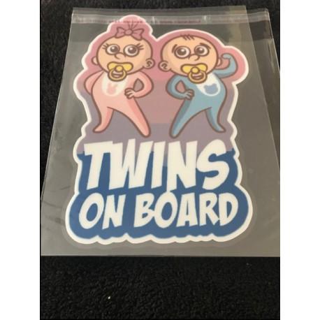 """Naklejka """"Twins on Board"""""""